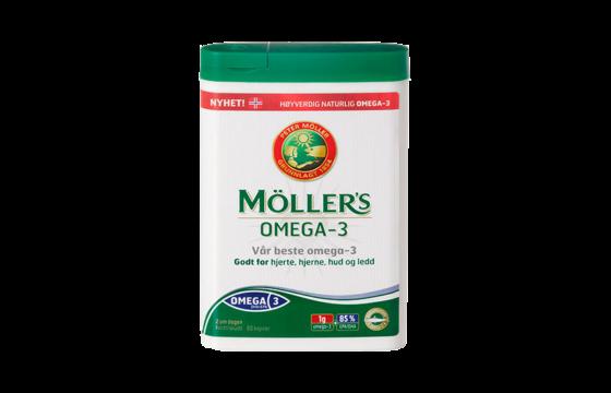 omega 3 kapsler, tran kapsler fra Møllers