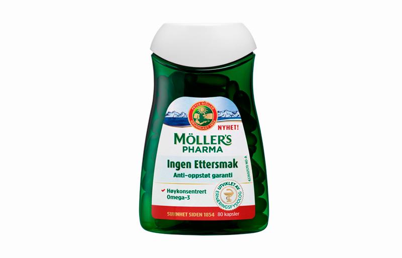 Møllers pharma ingen ettersmak