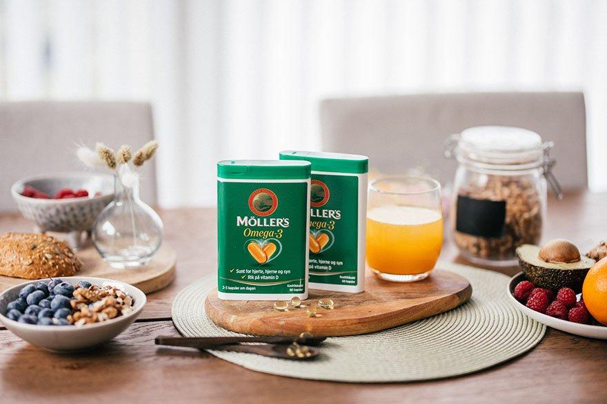 Möller's Omega-3 og Vitamin D rett i postkassen