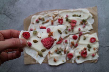 Frozen yoghurt snack oppskrift
