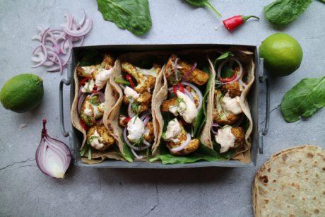 taco med blomkål oppskrift