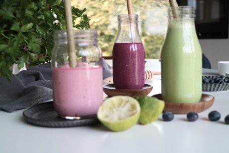 3 smoothies med cottage cheese