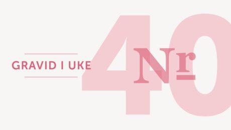 gravid uke 40